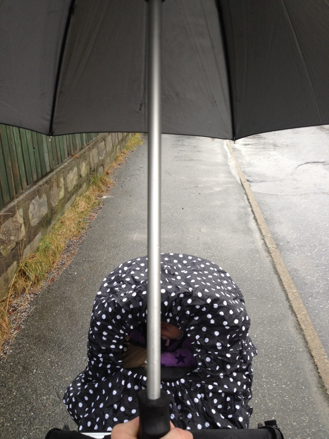 Trille. ta bilde og bære paraplyen? Null problem