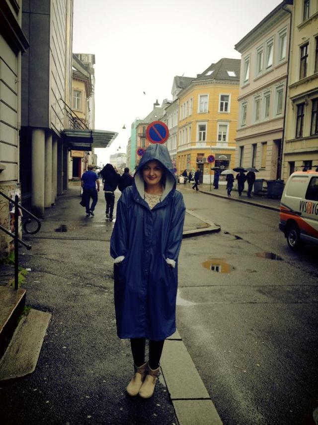 Meg i regntøy